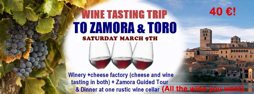 WINE TASTING TOUR + CHEESE AND WINE TASTING# TOUR TO ZAMORA AND TORO CITY + REGIONAL COUSINE DINNER.